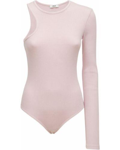 Body bawełniany - różowy Agolde