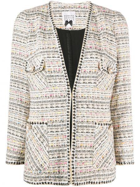 С рукавами пиджак с карманами букле на пуговицах Edward Achour Paris