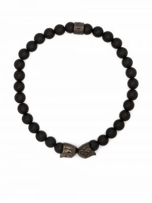 Czarna bransoletka łańcuch Northskull