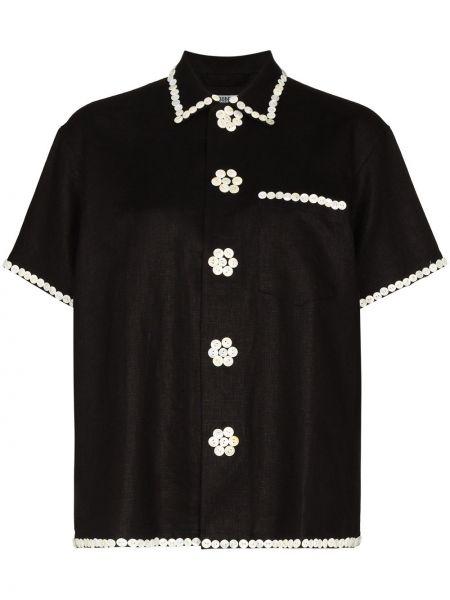 Czarna klasyczna koszula Bode
