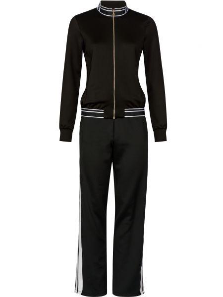 Костюмный черный спортивный костюм на молнии Patrizia Pepe