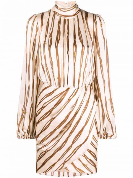 Платье макси с длинными рукавами - белое Elisabetta Franchi