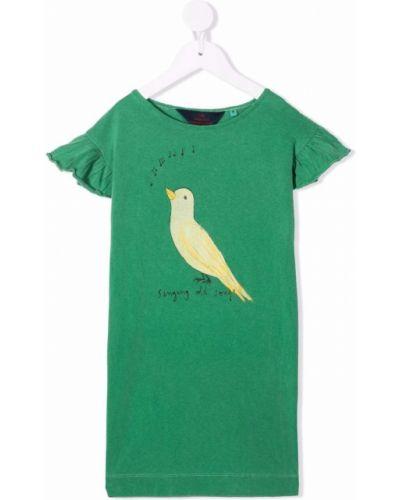 Zielony t-shirt bawełniany z printem The Animals Observatory