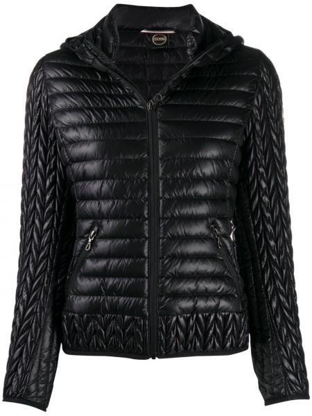 Прямая черная стеганая куртка на молнии с карманами Colmar