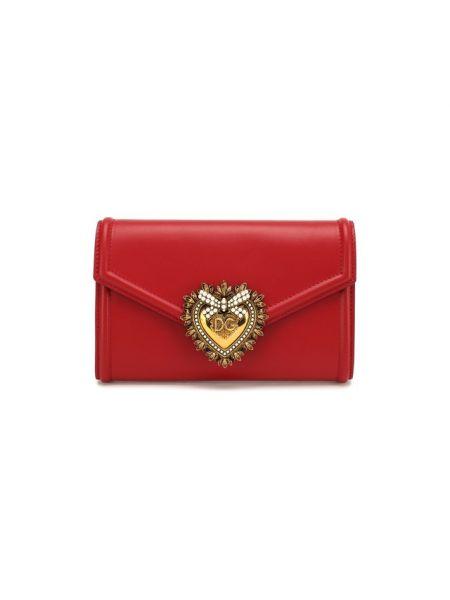 Кожаная сумка через плечо поясная Dolce & Gabbana
