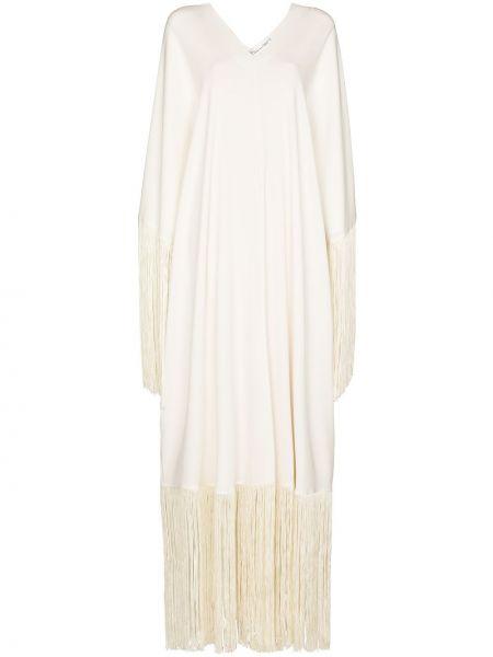 Шелковое платье макси - белое Oscar De La Renta