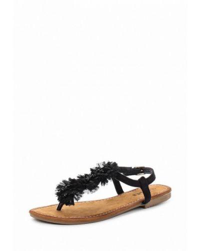 Черные замшевые сандалии Malien