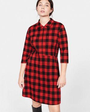Платье платье-рубашка осеннее Violeta By Mango