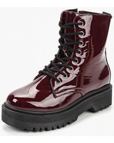 Кожаные ботинки осенние бордовые Coco Perla