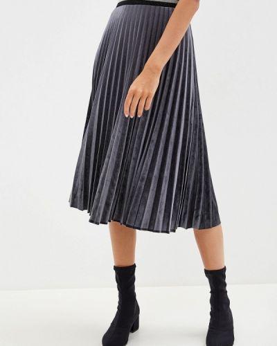 Плиссированная юбка серая Savage