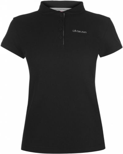 Czarna koszula bawełniana krótki rękaw La Gear