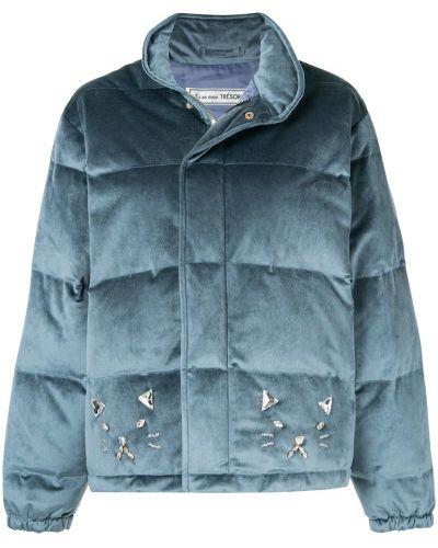 Куртка велюровая синий Tu Es Mon Tresor