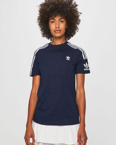 Футбольная темно-синяя футболка Adidas Originals