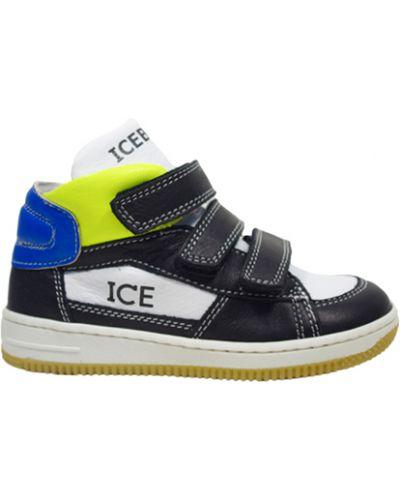 Кеды кожаный черный Iceberg