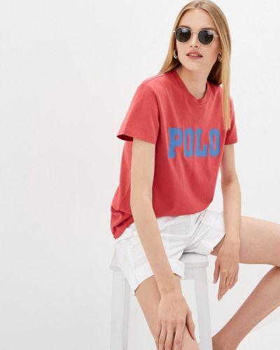 Красная футболка с короткими рукавами Polo Ralph Lauren