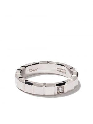 Серебряное кольцо с бриллиантом квадратное Chopard