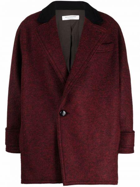 Красное пальто из вискозы Philosophy Di Lorenzo Serafini