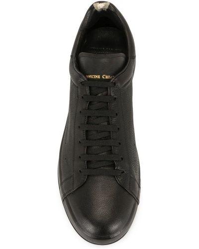 Кожаные черные кеды на шнуровке Officine Creative