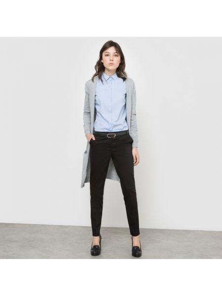 Бежевые брюки дудочки стрейч узкого кроя на пуговицах La Redoute Collections