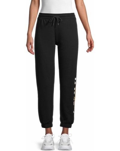 Черные брюки с карманами с манжетами Dkny