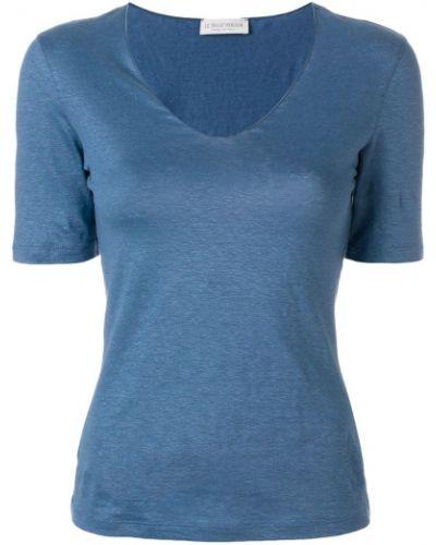 Льняная футболка - синяя Le Tricot Perugia