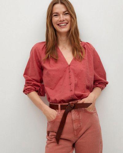 Красная блузка с длинными рукавами Mango