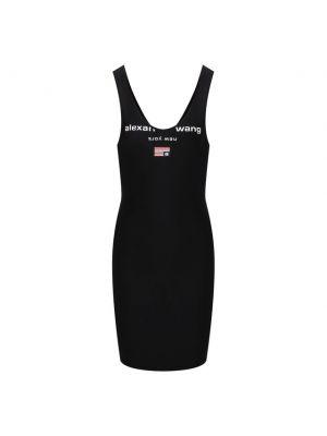 Черное платье из полиэстера Alexanderwang.t