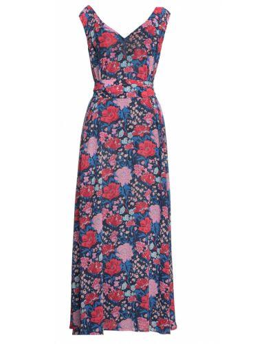 Sukienka midi z szyfonu z printem Claudie Pierlot