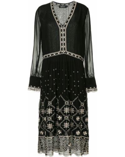Платье макси с вышивкой с прозрачными рукавами Magali Pascal
