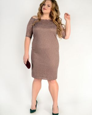 Платье с декольте через плечо Jetty-plus
