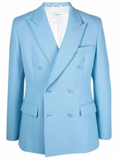 Шерстяной пиджак - синий Casablanca