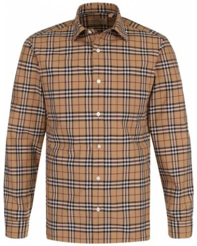 Джинсовая рубашка в клетку с длинным рукавом Burberry
