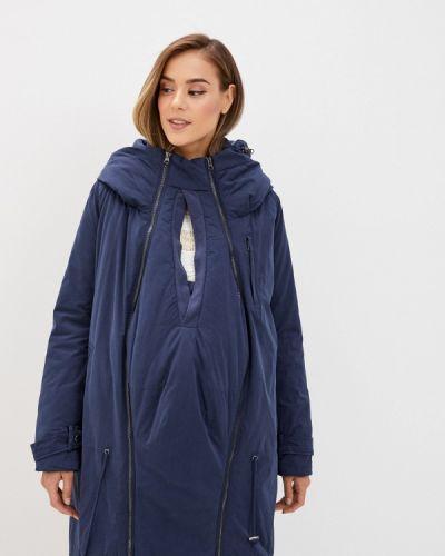 Теплая синяя зимняя куртка Mama.licious