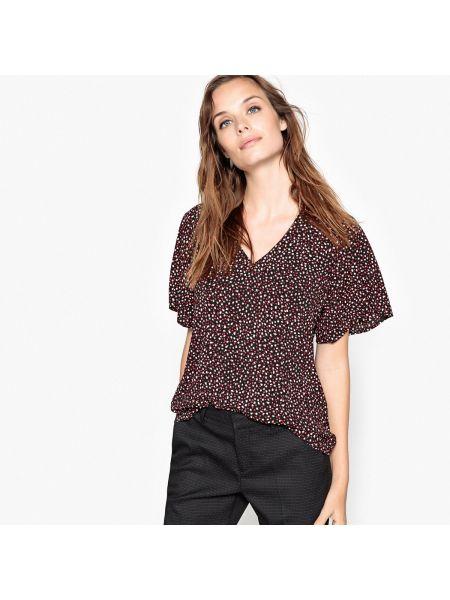 Блузка с короткими рукавами - черная Sud Express