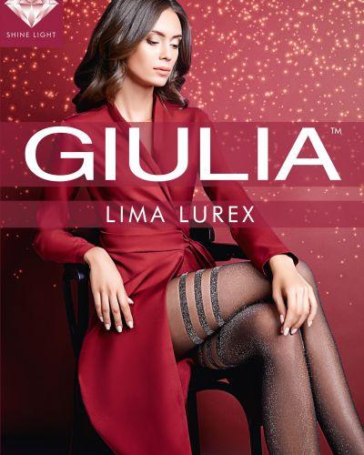 Колготки с люрексом - золотые Giulia