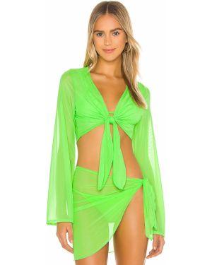 Zielony top na plażę do siatkówki Ellejay