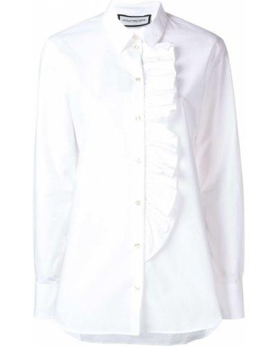 Классическая блузка с длинным рукавом с оборками на пуговицах Roqa