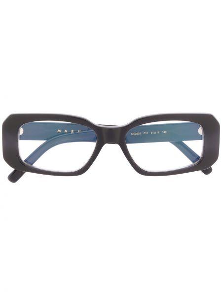 Черные очки для зрения прямоугольные Marni Eyewear