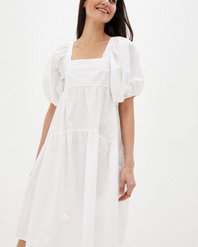 Прямое белое платье Topshop