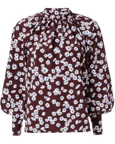 Блузка с манжетами - коричневая Anna October