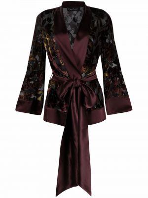 Шелковый халат - красный Carine Gilson