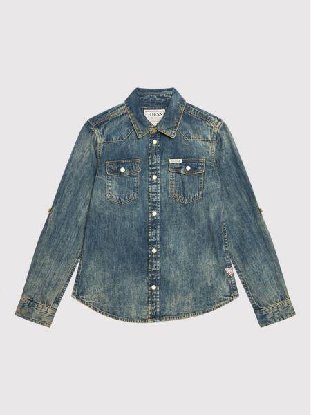 Koszula jeansowa - granatowa Guess