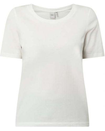 Biały t-shirt bawełniany Ichi