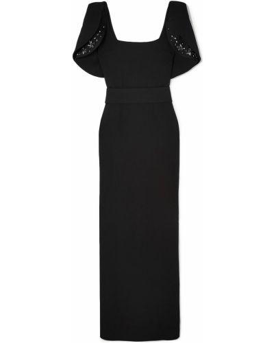 Czarna sukienka elegancka z paskiem Safiyaa