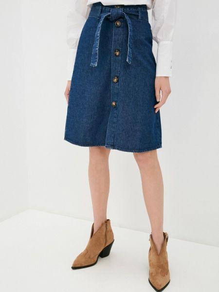 Джинсовая юбка синяя весенняя Ovs