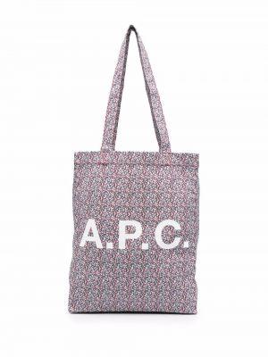Фиолетовые брюки с принтом A.p.c.