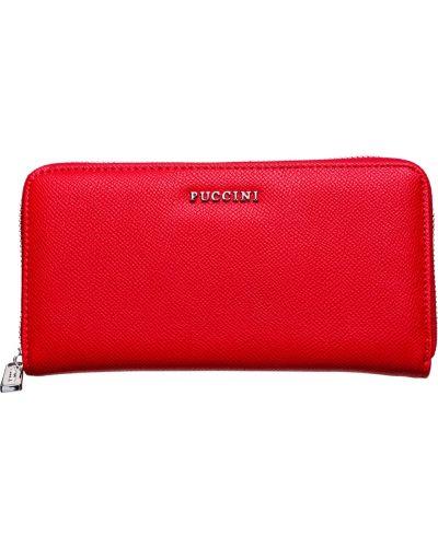 Кожаный кошелек - красный Puccini