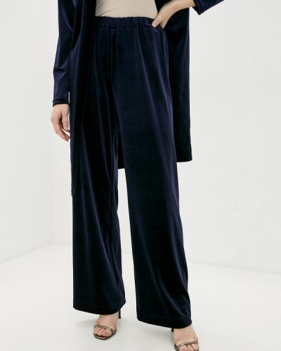 Повседневные синие брюки Anna Verdi