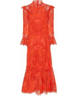 Платье из органзы шелковое Zimmermann