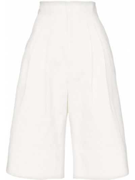 Белые шорты с карманами на пуговицах Markoo